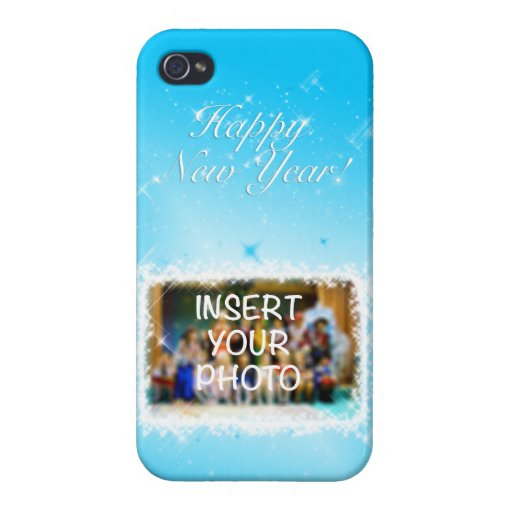 New Year Design! Stars in the Blue Sky. Add Photo. Case For iPhone 4
