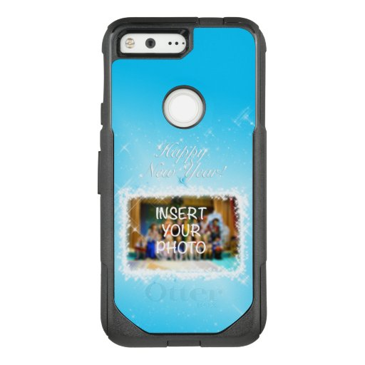 New Year Design! Stars in the Blue Sky. Add Photo. OtterBox Commuter Google Pixel Case