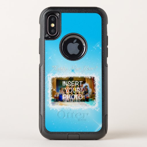 New Year Design! Stars in the Blue Sky. Add Photo. OtterBox Commuter iPhone XS Case