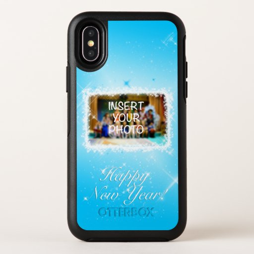 New Year Design! Stars in the Blue Sky. Add Photo. OtterBox Symmetry iPhone XS Case