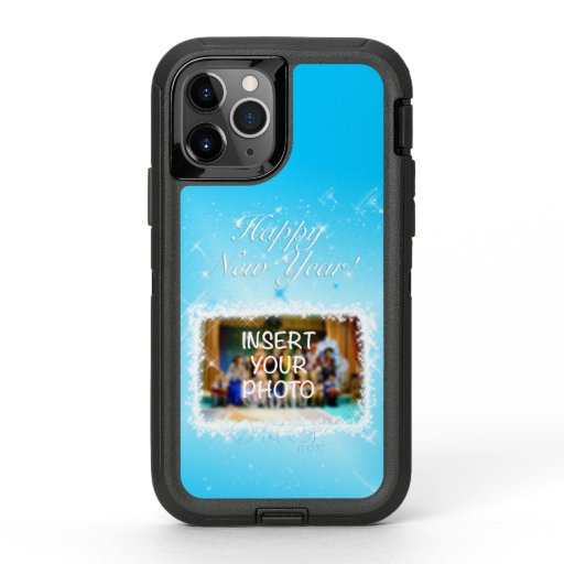 New Year Design! Stars in the Blue Sky. Add Photo. OtterBox Defender iPhone 11 Pro Case