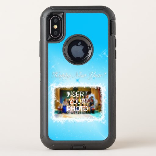 New Year Design! Stars in the Blue Sky. Add Photo. OtterBox Defender iPhone XS Case