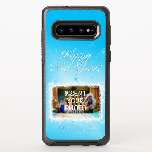 New Year Design! Stars in the Blue Sky. Add Photo. OtterBox Symmetry Samsung Galaxy S10 Case