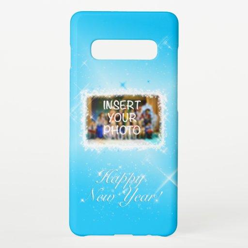 New Year Design! Stars in the Blue Sky. Add Photo. Samsung Galaxy S10  Case