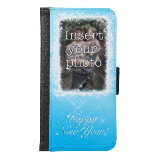 New Year Design! Stars in the Blue Sky. Add Photo. Samsung Galaxy S6 Wallet Case
