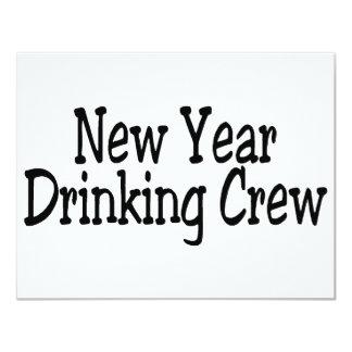 New Year Drinking Crew Card