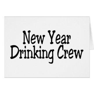 New Year Drinking Crew Greeting Card