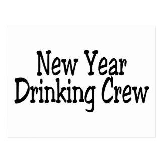 New Year Drinking Crew Postcard