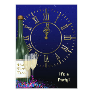 New Year' Eve party Personalized Invites