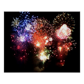 New year: final bouquet of fireworks - poster