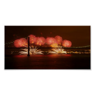 New Year Firework Lisbon Poster