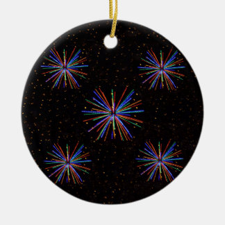 New Year Fireworks  4th of July 2016 Ceramic Ornament