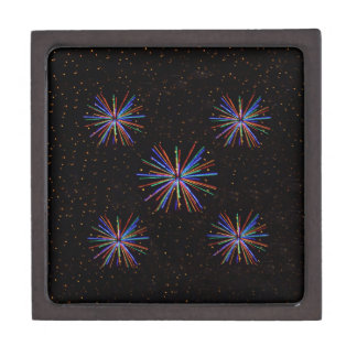 New Year Fireworks  4th of July 2016 Jewelry Box