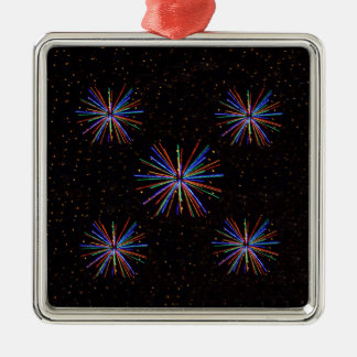 New Year Fireworks  4th of July 2016 Metal Ornament