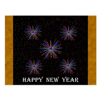 New Year Fireworks  4th of July 2016 Postcard