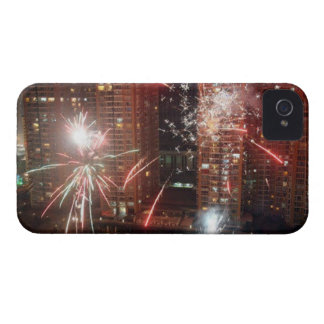 New year: fireworks - iPhone 4 cases
