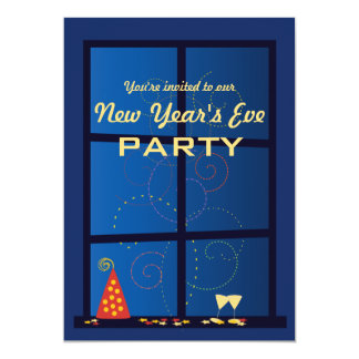 New Year Fireworks Party 5x7 Paper Invitation Card