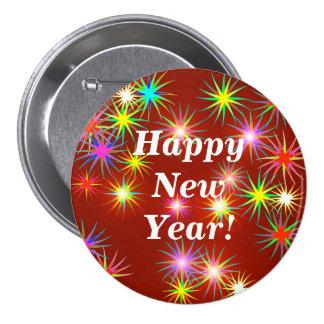 New Year Flash 3 Inch Round Button