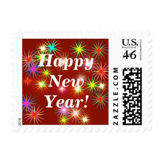 New Year Flash Postage Stamp