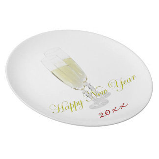 New Year Flutes Plate Template