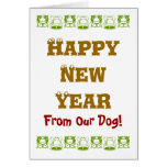 NEW YEAR FOR DOGS NOTE CARD