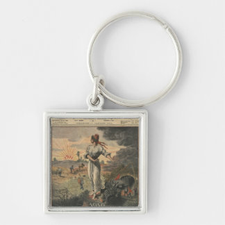 New Year, France hopes for better days Key Chain