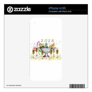 New Year Gifts iPhone 4 Skins