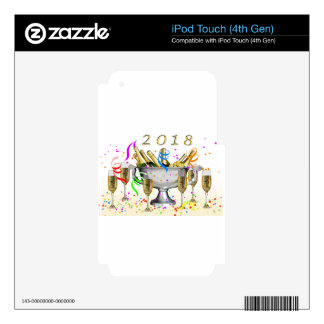 New Year Gifts Skins For iPod Touch 4G
