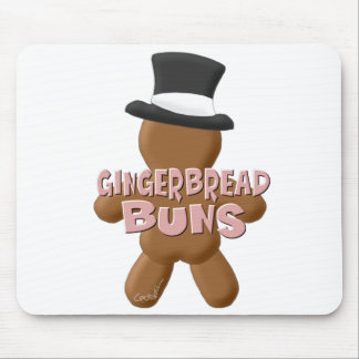New Year Gingerbread Buns Mouse Pad