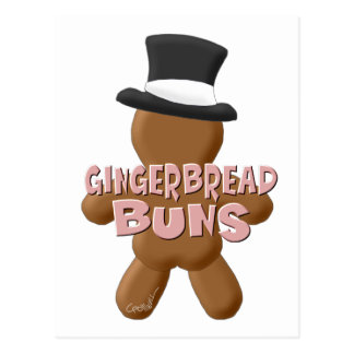 New Year Gingerbread Buns Postcard