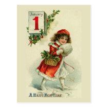 """New Year Girl"" Greeting Card"