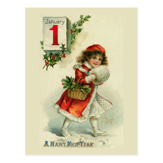 """New Year Girl"" Greeting Card"