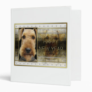 New Year - Golden Elegance - Airedale 3 Ring Binder