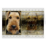 New Year - Golden Elegance - Airedale Card