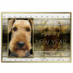 New Year - Golden Elegance - Airedale Cut Out