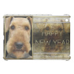 New Year - Golden Elegance - Airedale iPad Mini Covers