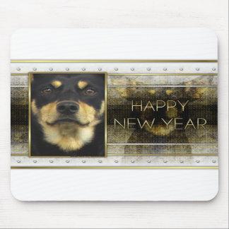 New Year - Golden Elegance -Australian Kelpie Jude Mouse Pad