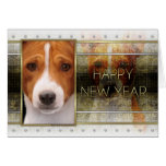 New Year - Golden Elegance - Basenji Cards