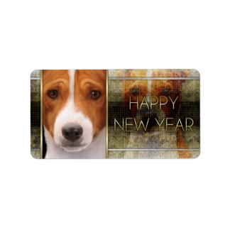 New Year - Golden Elegance - Basenji Label