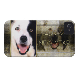 New Year - Golden Elegance - Border Collie Case-Mate iPhone 4 Case
