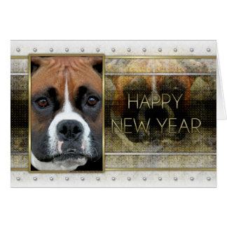 New Year - Golden Elegance - Boxer - Vindy Card