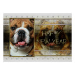 New Year - Golden Elegance - Bulldog Poster