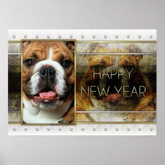 New Year - Golden Elegance - Bulldog Print