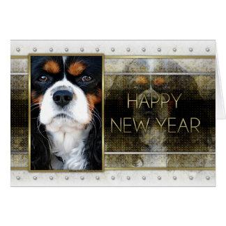 New Year - Golden Elegance - Cavalier - Tri-color Card