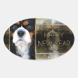 New Year - Golden Elegance - Cavalier Tri-color Sticker