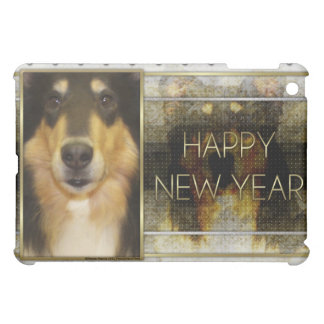 New Year - Golden Elegance - Collie - Caroline Cover For The iPad Mini