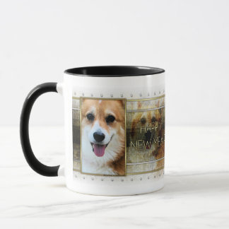 New Year - Golden Elegance - Corgi - Owen Mug