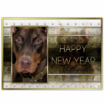 New Year - Golden Elegance - Doberman - Red -Rocky Cut Outs