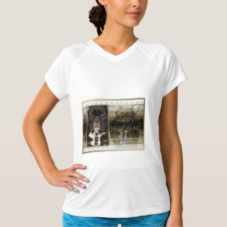 New Year - Golden Elegance - French Bulldog - Teal T-Shirt