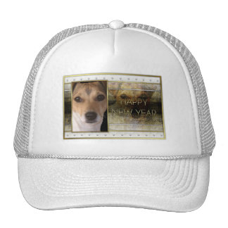 New Year - Golden Elegance - Jack Russell Hat